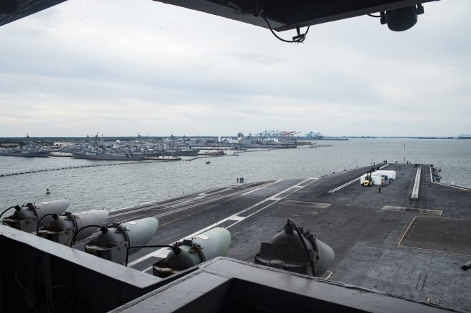 Carrier USS Dwight D. Eisenhower Heads to Norfolk Naval Shipyard for 6-Month Maintenance Availability