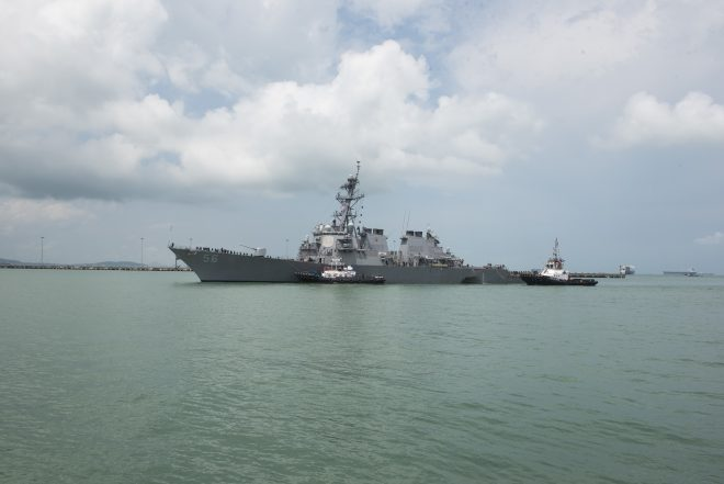 Navy to Use Heavy Lift Ship to Bring Stricken USS John S. McCain to Japan