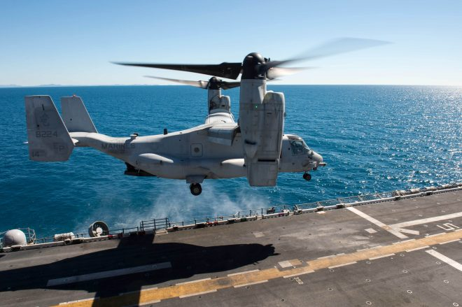 Marine Corps Identifies 3 Marines Killed in Saturday MV-22 Osprey Crash