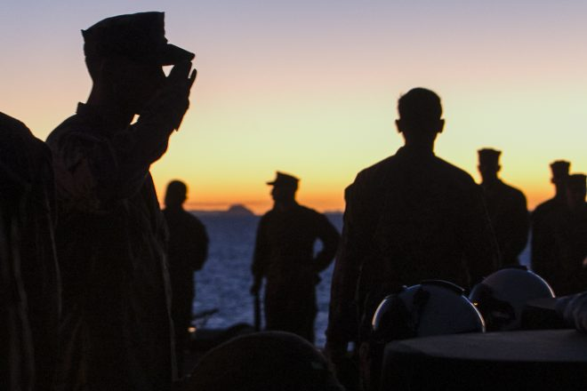 31st MEU Holds Sunset Memorial Service for Three Marines Killed in Osprey Crash