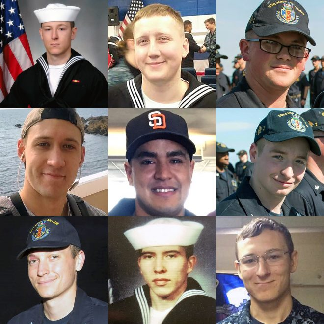 Navy Recovers 8 Remaining Sailors Killed Aboard USS John S. McCain