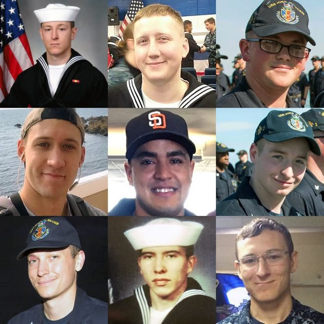 Search for USS John S. McCain Sailors Called Off; Navy Identifies 1 Dead, 9 Missing