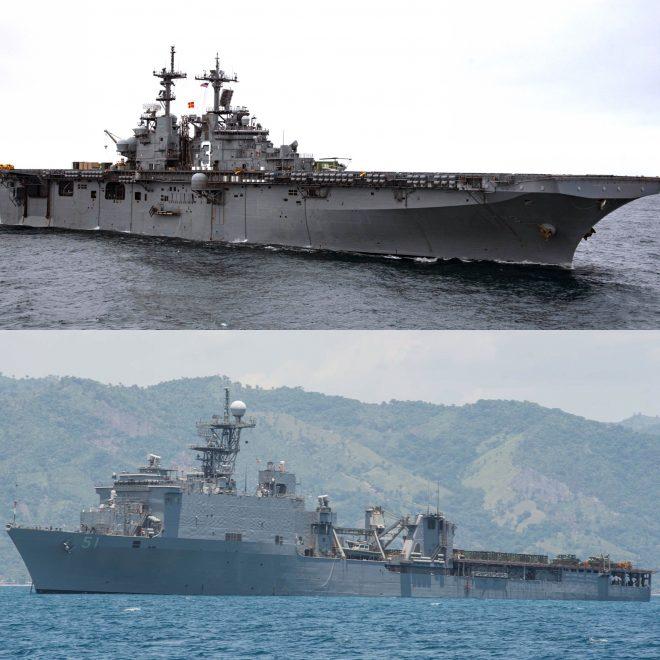 USS Kearsarge, USS Oak Hill Leave Thursday for Hurricane Harvey Relief Operation