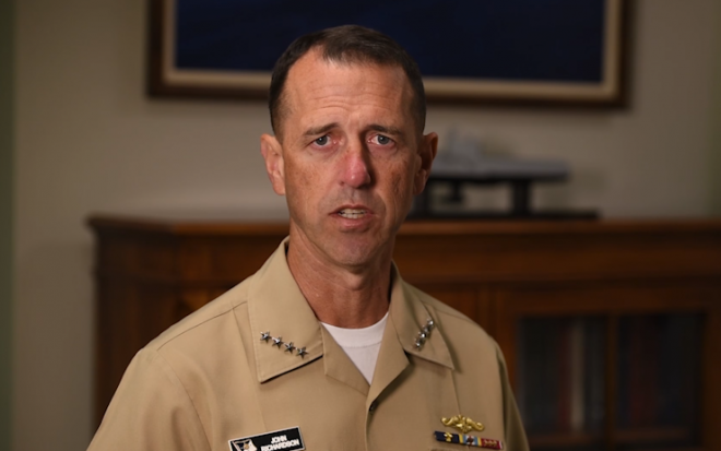 VIDEO: CNO Announces Operational Pause, Investigation Following USS John McCain Collision