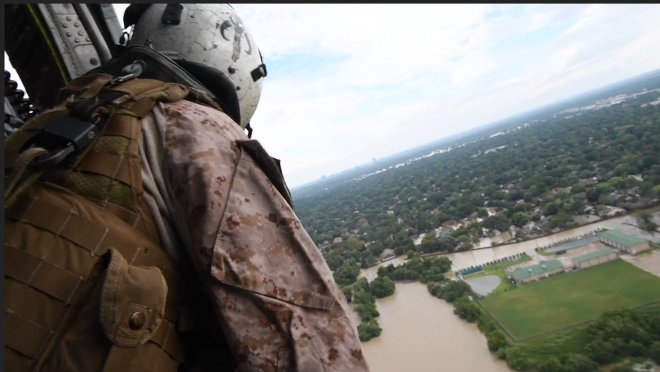 VIDEO:  U.S. Navy Helicopters Conduct Search and Rescue Operations Following Hurricane Harvey