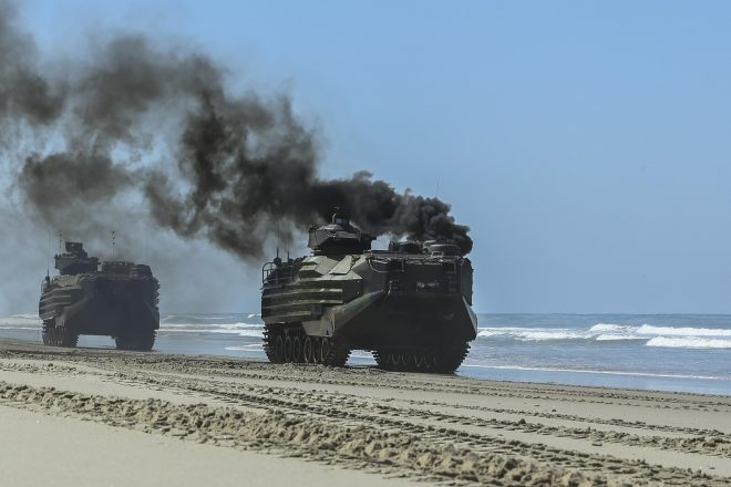 Training Mishap: AAV Fire Injures 14 Marines, Sailor; Some in 'Critical' Condition