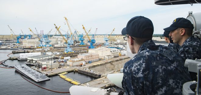 Navy Simulating Efficient Shipyard Layouts as Part of 20-Year Modernization, Optimization Effort