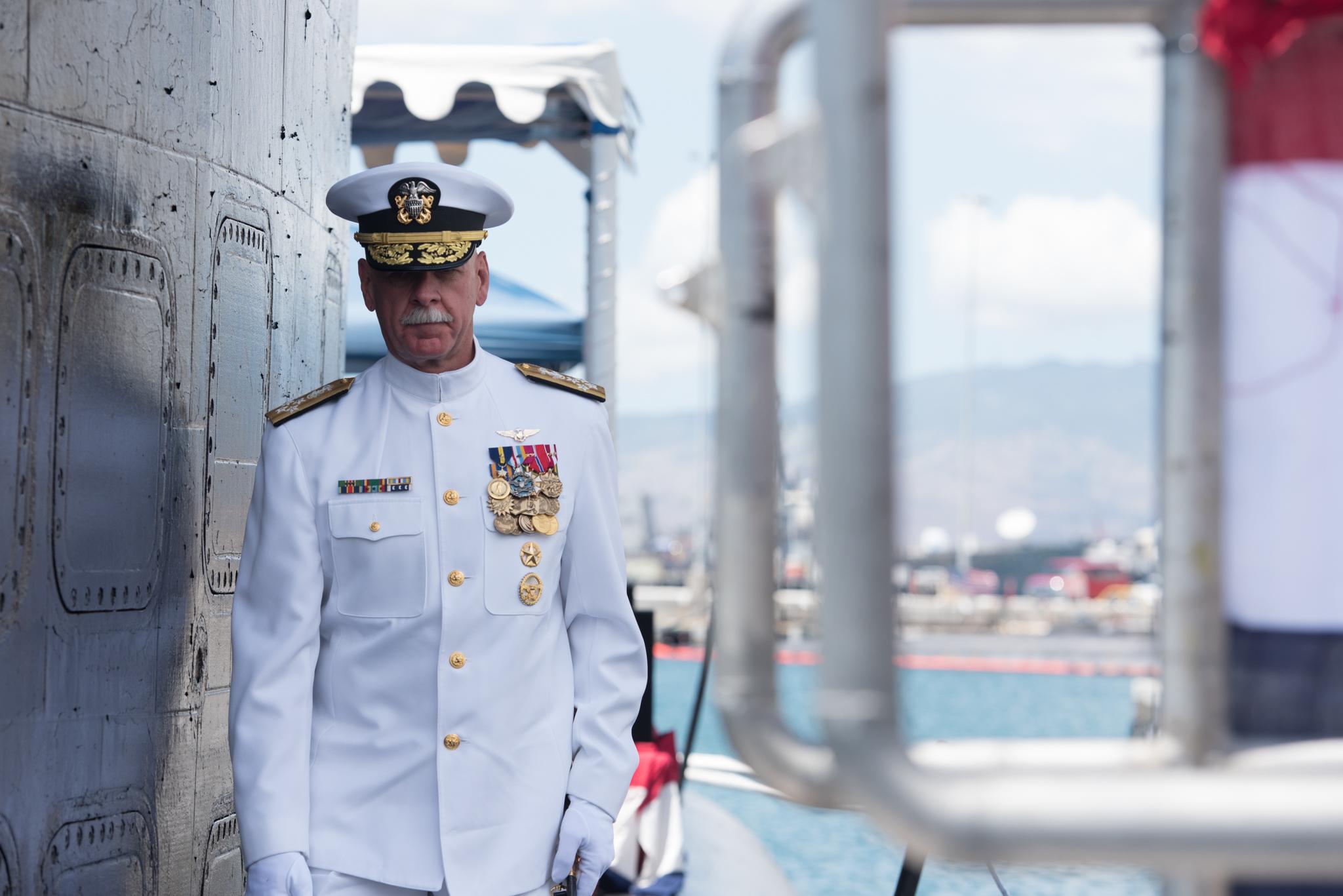 Pacific Fleet Head Adm  Scott Swift Publicly Announces