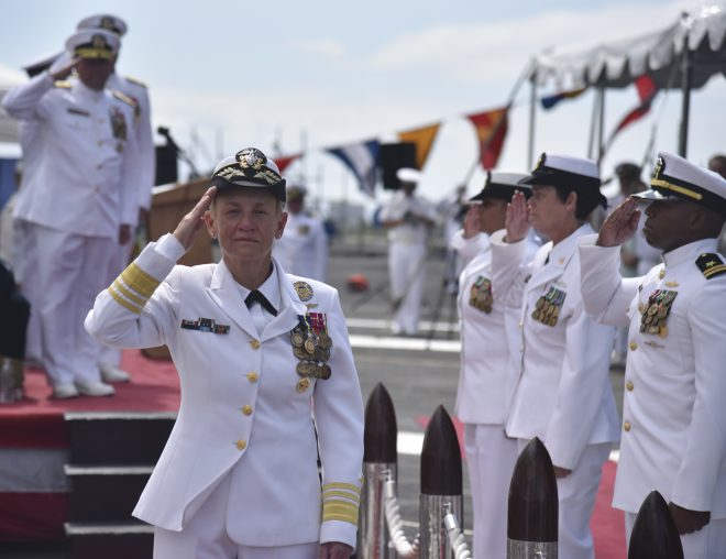 Vice Adm. Nora Tyson Retires from Command of U.S. 3rd Fleet