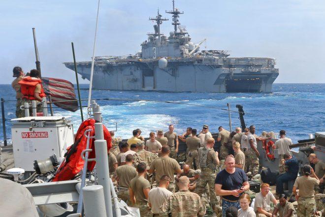 Navy, Marine Corps Providing Around-the-Clock Hurricane Maria Relief