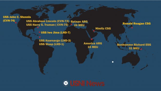 USNI News Fleet and Marine Tracker: Sept. 11, 2017