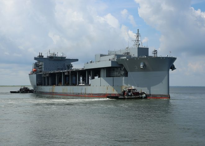 2nd Expeditionary Sea Base USNS Hershel 'Woody' Williams Delivers to Navy