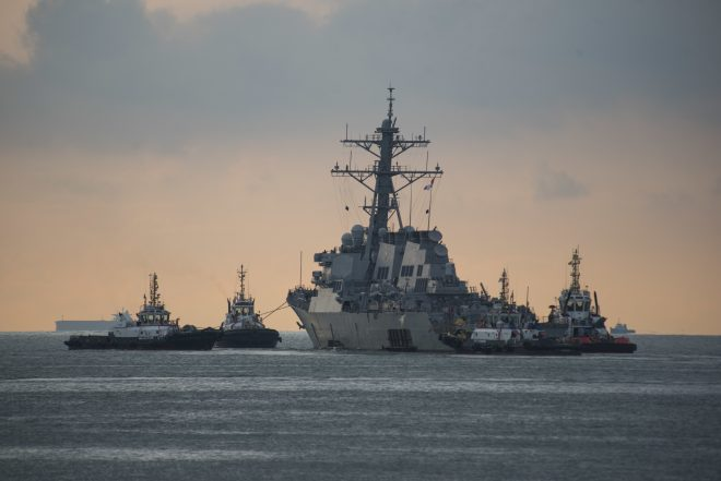 USS John S. McCain Leaves Singapore for Repairs in Japan