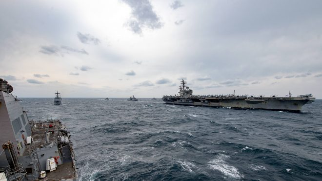 Nimitz Strike Group Exits Persian Gulf; 3 U.S. Carrier Strike Groups Now Operating in 7th Fleet