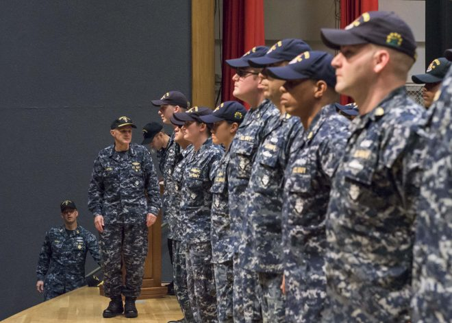 U.S. 7th Fleet Honors 36 USS Fitzgerald Sailors For Bravery, Damage Control Efforts