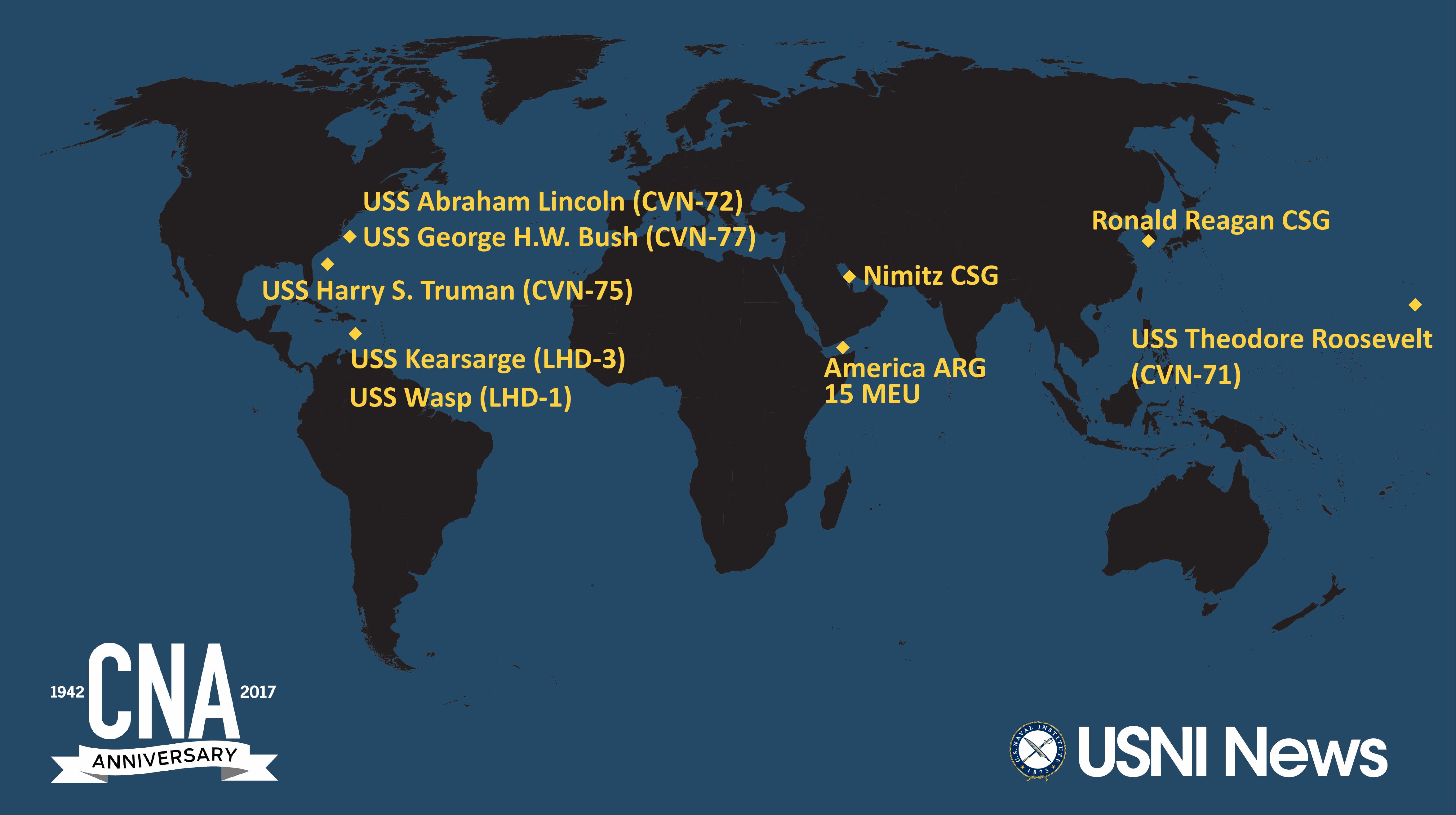 USNI NewsCNA Fleet and Marine Tracker Oct 23 2017