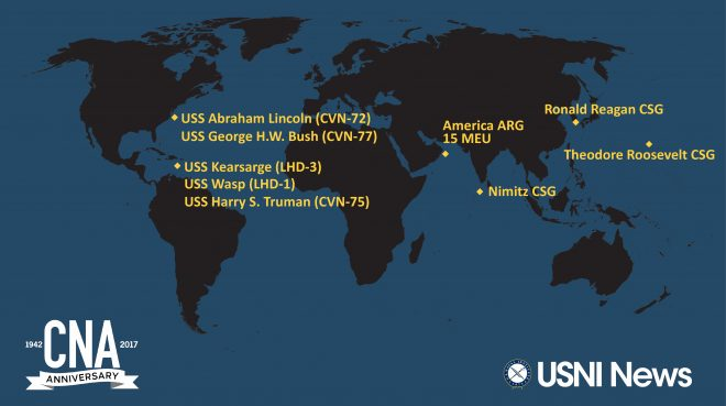 USNI News-CNA Fleet and Marine Tracker: Oct. 26, 2017