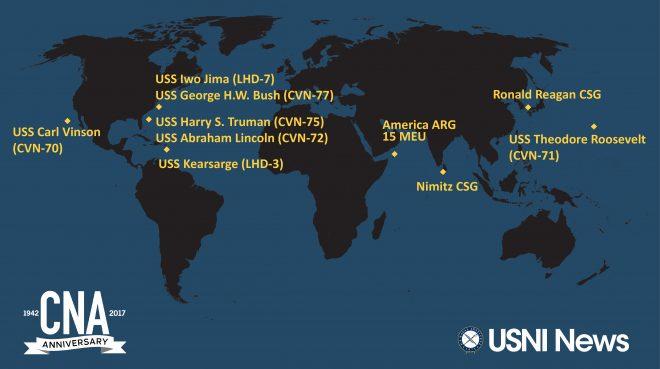 USNI News-CNA Fleet and Marine Tracker: Oct. 30, 2017