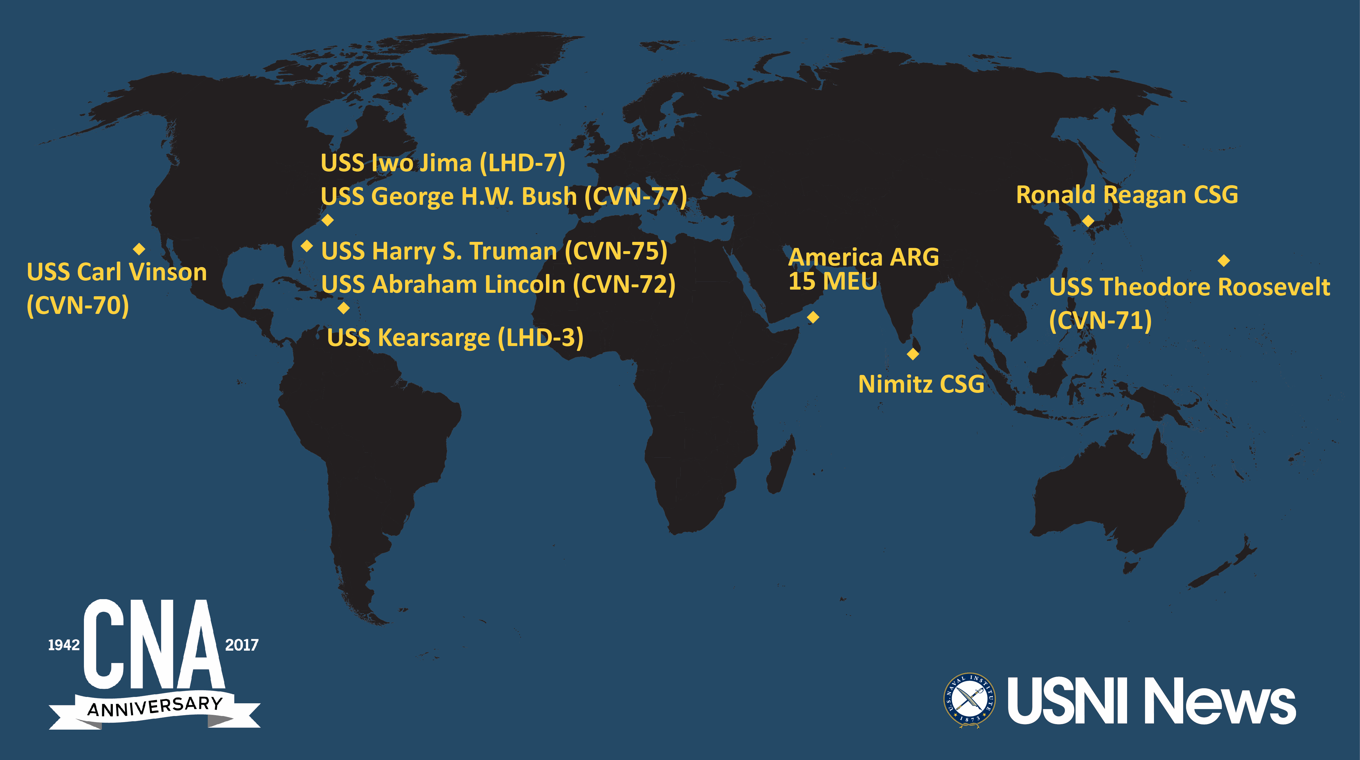 Us carrier strike groups locations map