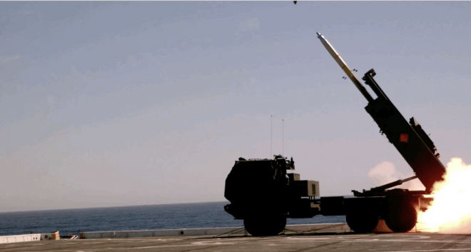 Marines Fire HIMARS From Ship in Sea Control Experiment With Navy