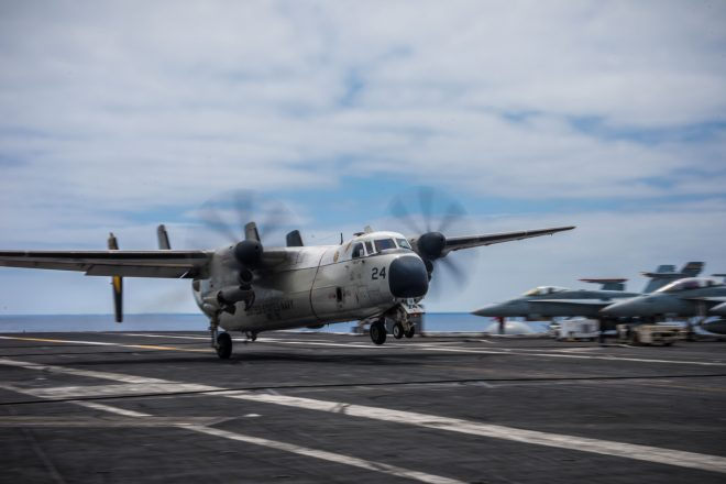 Navy Recovers C-2A from Fatal 2017 Crash from 3 Miles Underwater