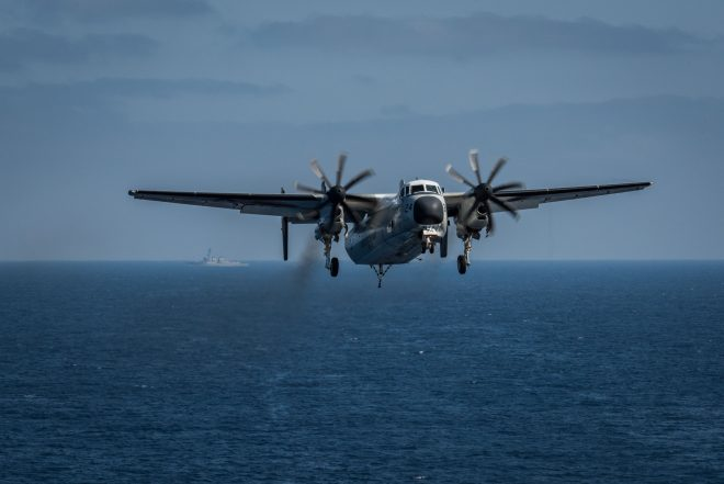 UPDATED: 3 Sailors Missing, 8 Rescued Following C-2A Crash Near Okinawa