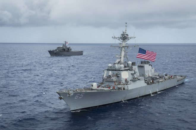 Destroyer USS Benfold Damaged After Collision with Japanese Tug