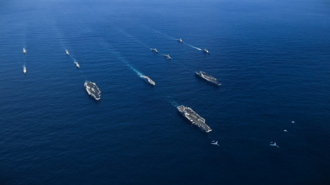 VIDEO: 3 Carriers Now Operating Off the Korean Peninsula with Japanese Ships