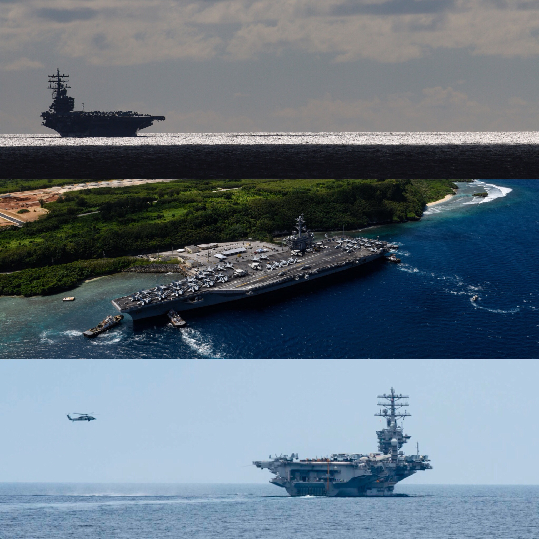 UPDATED: 3 U S  Carrier Strike Groups to Exercise for 4 Days
