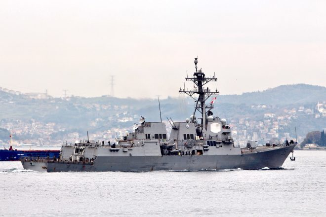 Guided-Missile Destroyer USS James E. Williams Enters the Black Sea