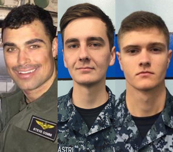 Navy Identifies 3 Sailors Presumed Dead Following C-2A Crash in Philippine Sea