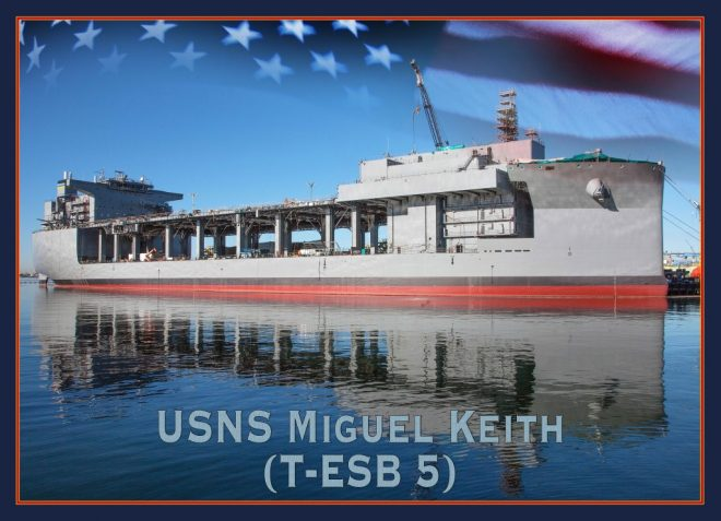 Spencer Names First Ship as SECNAV After Vietnam War Marine Miguel Keith