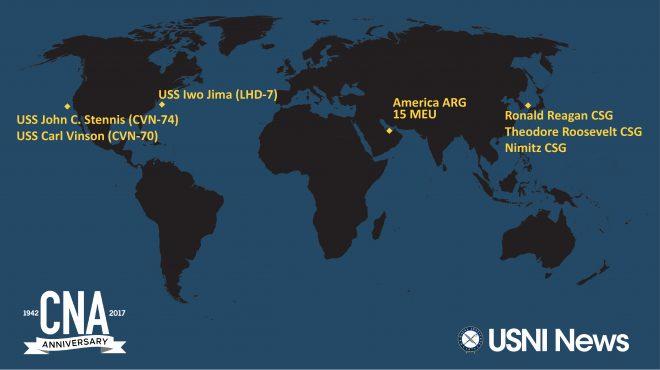 USNI News-CNA Fleet and Marine Tracker: Nov. 13, 2017