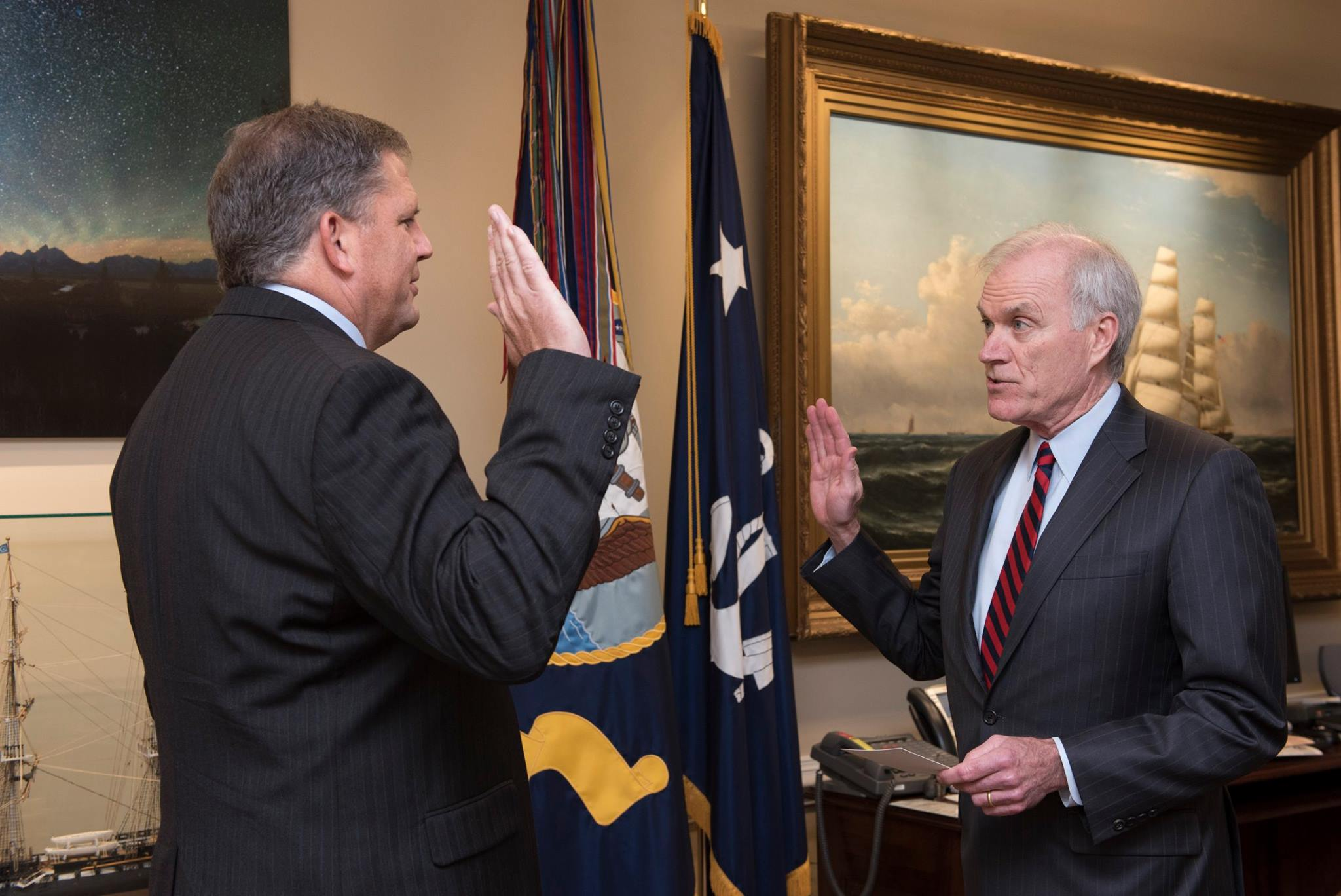 James 'Hondo' Geurts Sworn In As Navy Acquisition Chief
