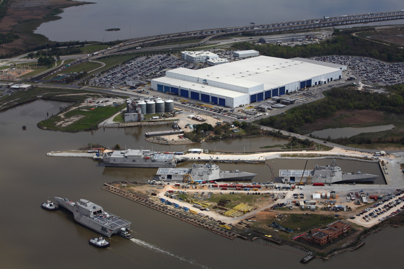Federal Agents Comb Through Austal USA Shipyard as Part of