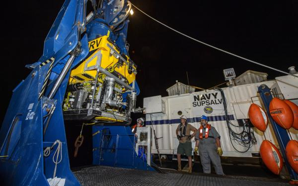 U S  Navy Sends Deep-Dive Unmanned Recovery Vehicle to