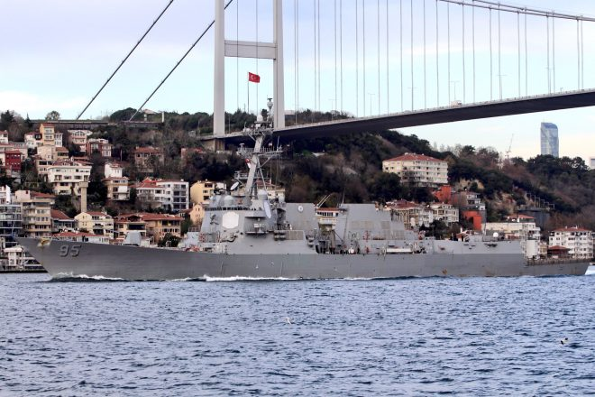 Destroyer USS James E. Williams Departs the Black Sea After 13 Days