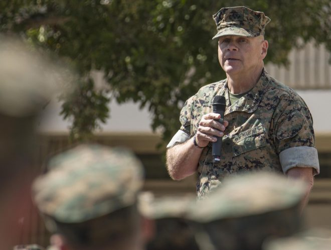 Neller: Marine Corps Needs Budget Stability for Efficient Multiyear Deals, Recruiting