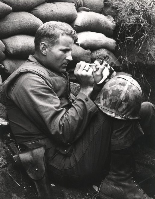 Korean War Marine Made Famous in Kitten Photo Dies