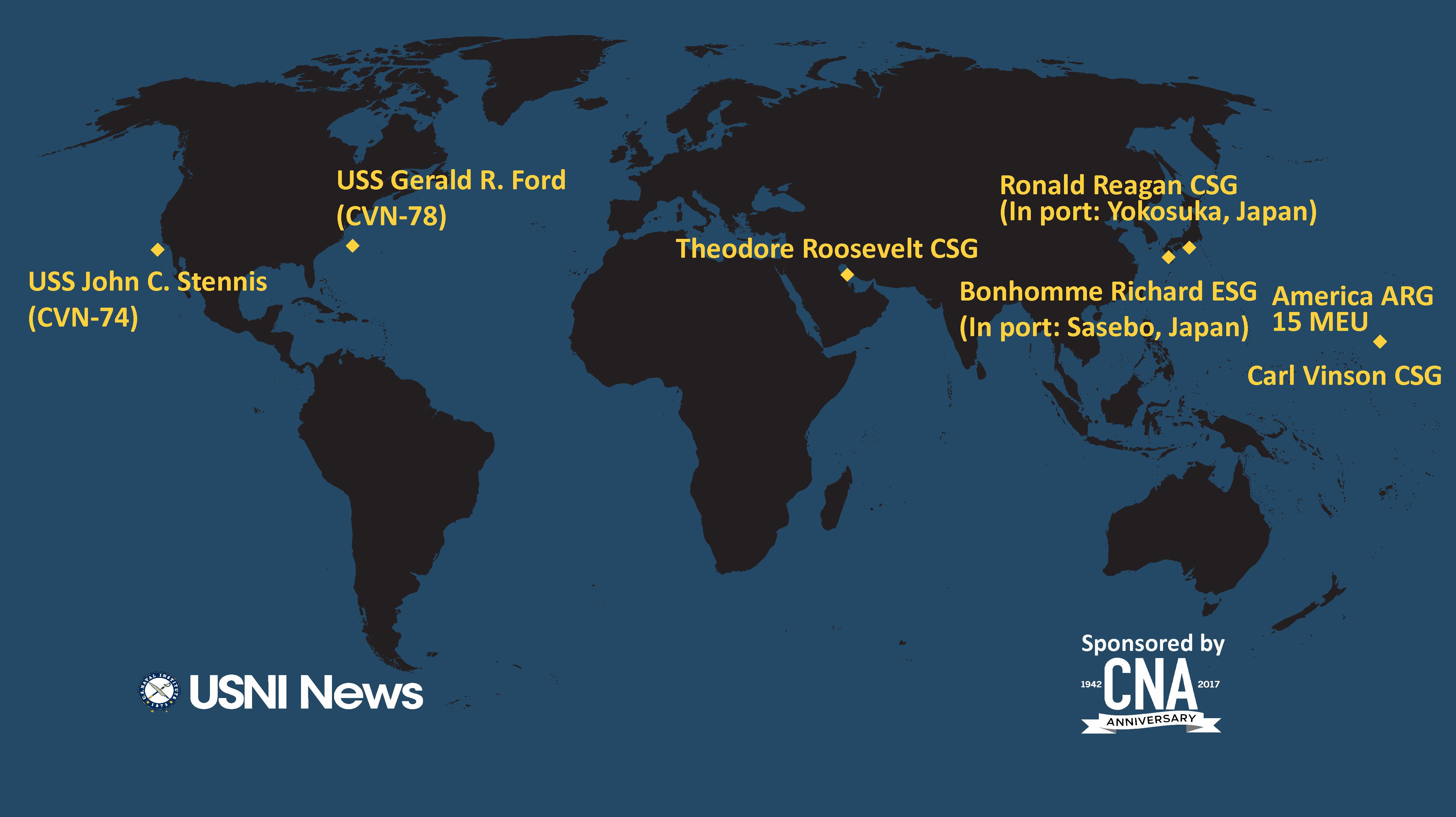 USNI News Fleet and Marine Tracker: Jan  22, 2018 - USNI News