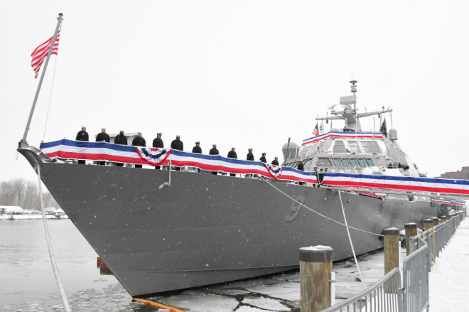 USS Little Rock Stuck in Montreal, Ship Might Not Leave Until Spring