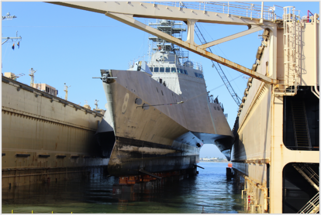 Navy May Reduce LCS-2 Drydocking Requirements as Drydock Shortage Looms