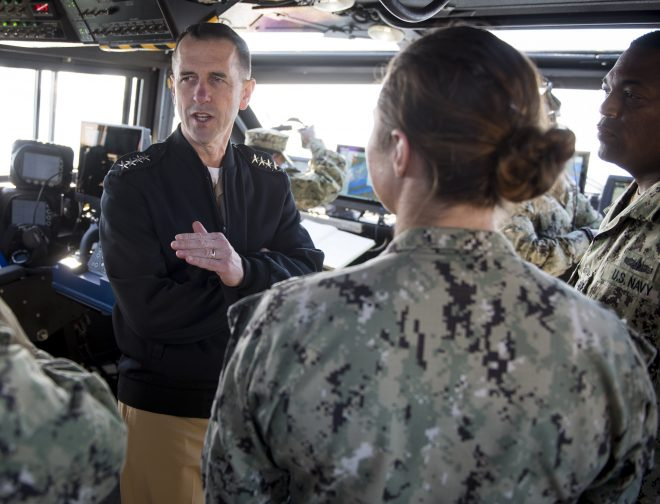 CNO: 2019 Budget Aims for 'Whole' Fleet, Faster Construction of 355-Ship Navy