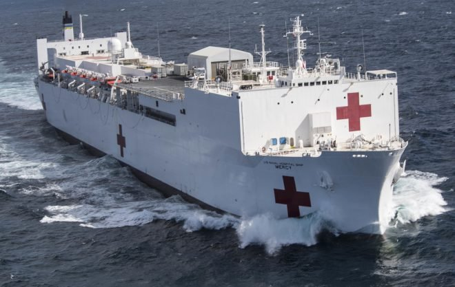 UPDATED: Pentagon Preparing Navy Hospital Ships Mercy, Comfort for Coronavirus Response