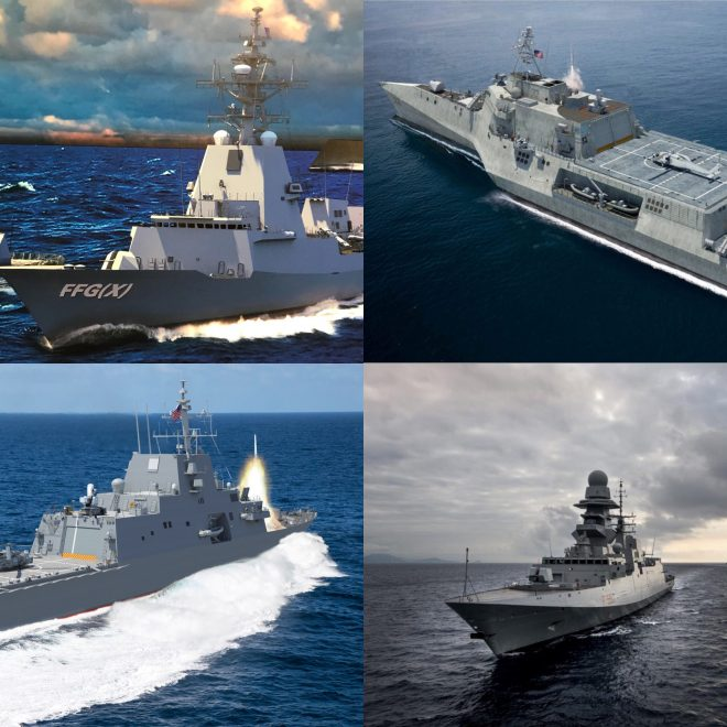 Navy Picks Five Contenders for Next Generation Frigate FFG(X) Program