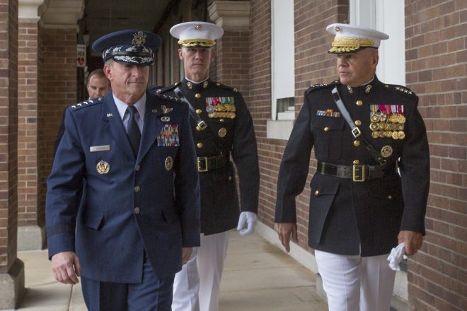 Marine Corps, Air Force Service Chiefs Hold First Meeting Since 2011; Plan to Coordinate on F-35, Air Defense Threats