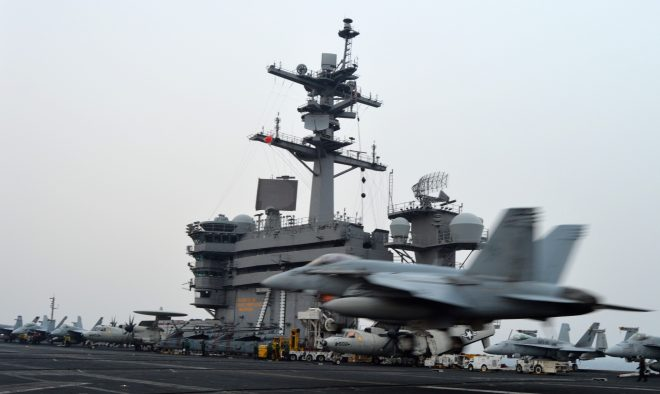 U.S. Evolving Middle East Operations of Carrier Strike Group as ISIS Loses Ground, Iranian Drones Make Daily Appearances