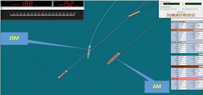 Singapore Safety Report on USS John S. McCain Aug. 21, 2017 Collision