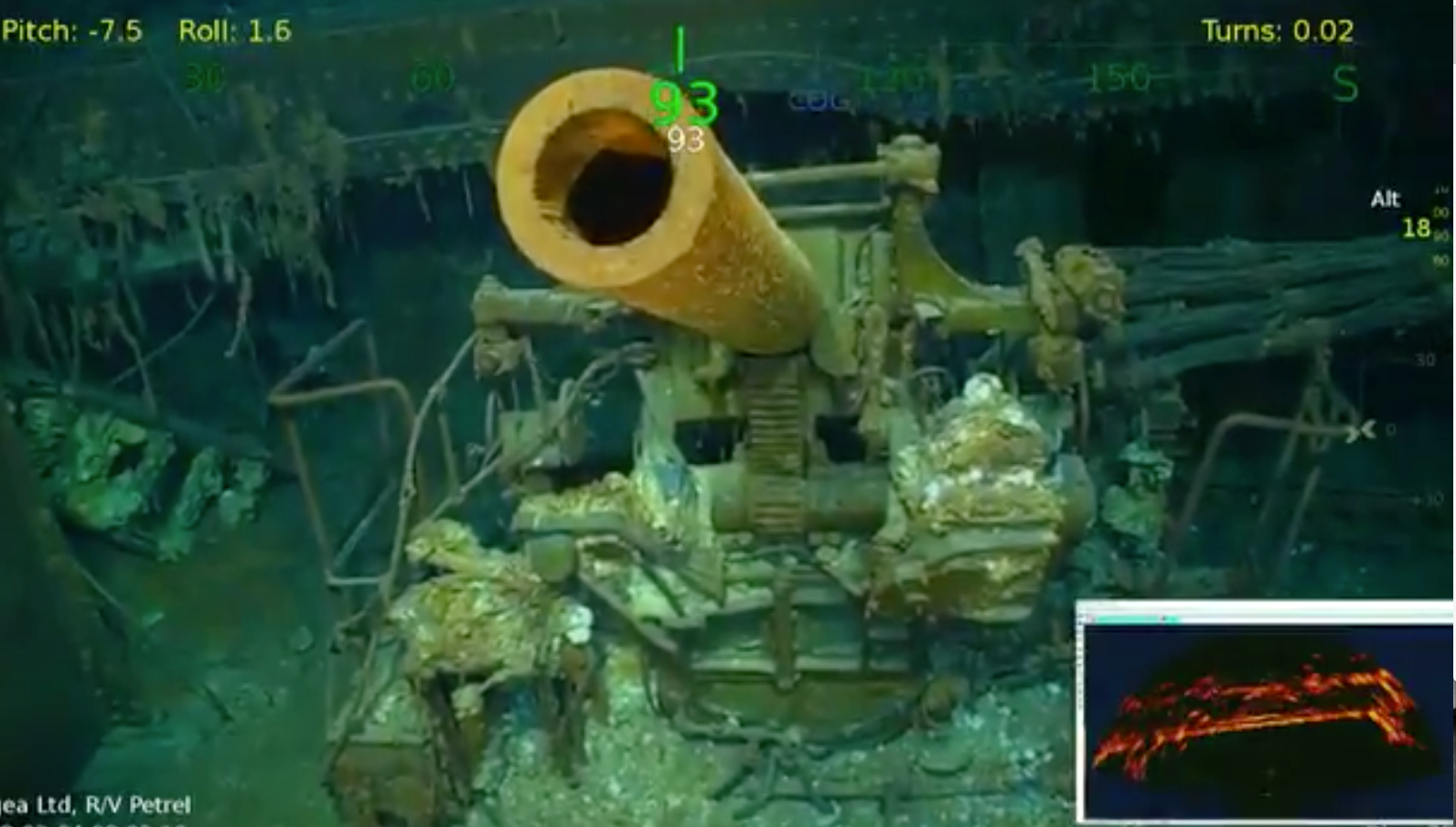 video  billionaire paul allen finds lost world war ii carrier uss lexington