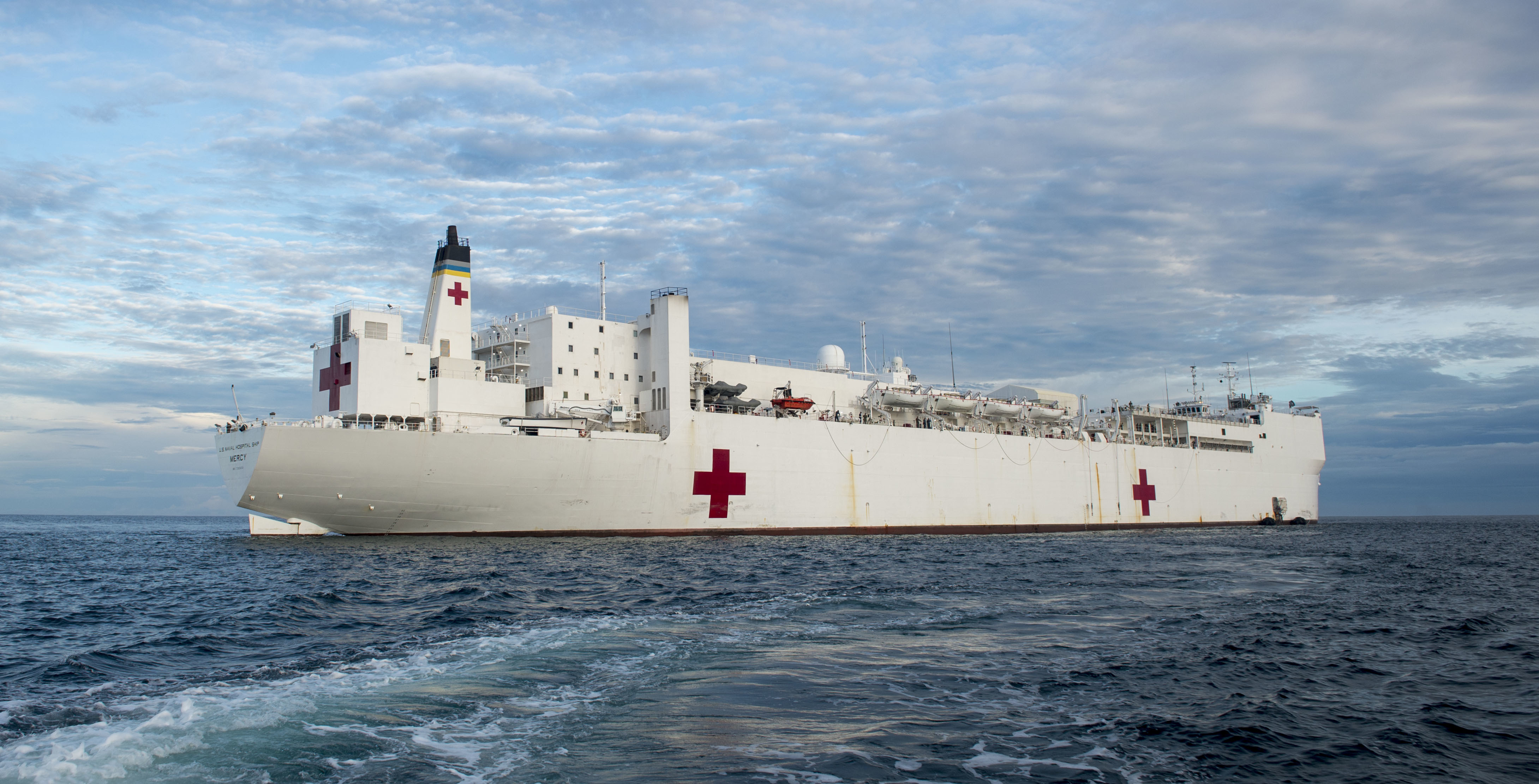 Navy studying new hospital ship intra theater mission needs with the us navy hospital ship usns mercy t ah 19 is anchored off the coast of bengkulu indonesia in support of pacific partnership pp 2018 on march 30 stopboris Choice Image